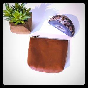 LL Bean Leather Zippered Bag